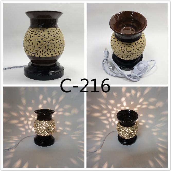 electric shadow scent oil warmer diffuser burner aroma fragrance lamp. Black Bedroom Furniture Sets. Home Design Ideas