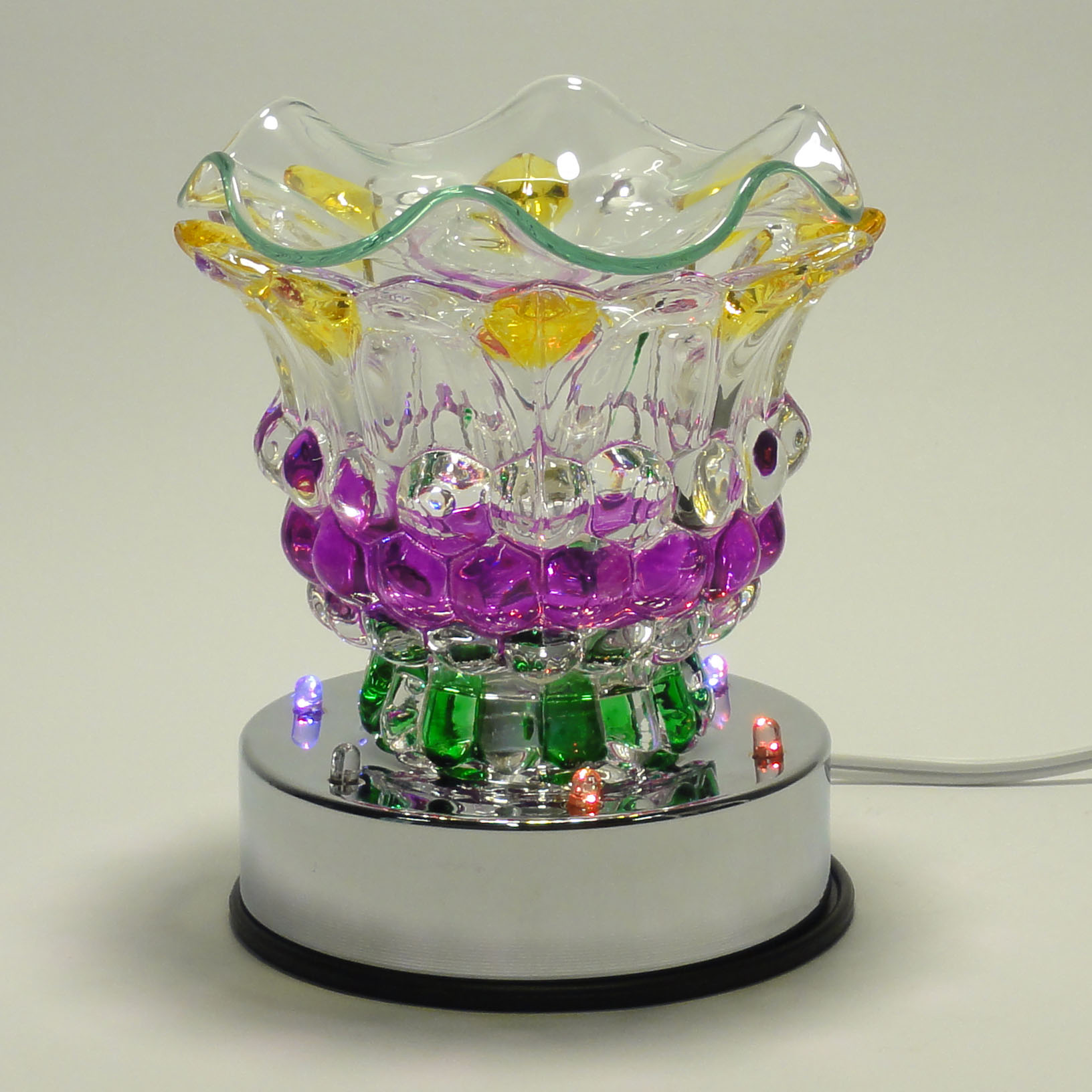 Glass Multi Colored Electric Touch Lamp With Led Light Oil