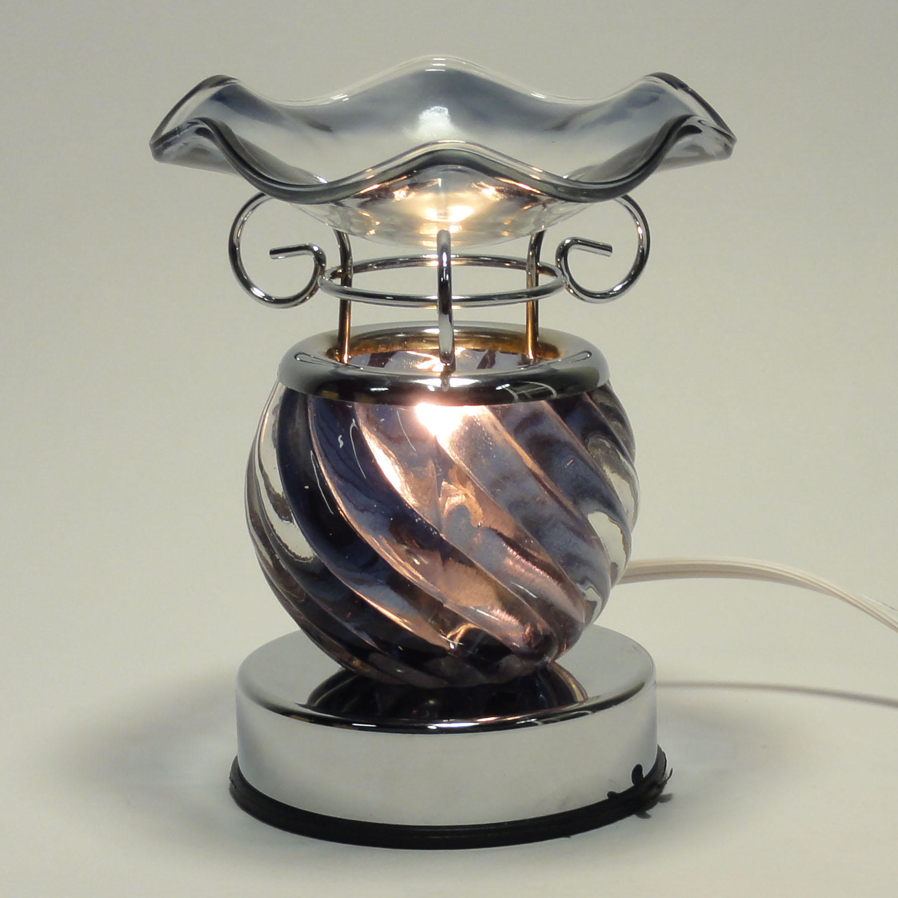 Electric Oil Warmers ~ Crystal glass touch electrical incense lamp electric wax