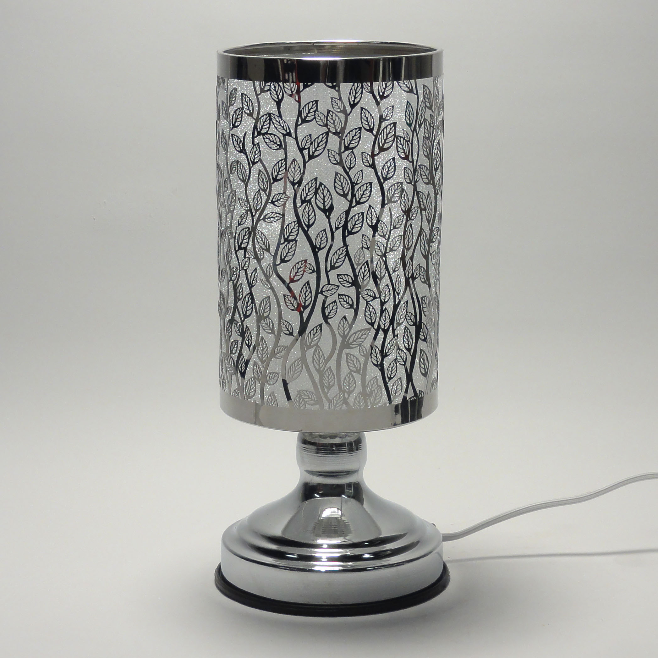 new electric metal silver aroma fragrance oil lamp warmer diffuser. Black Bedroom Furniture Sets. Home Design Ideas
