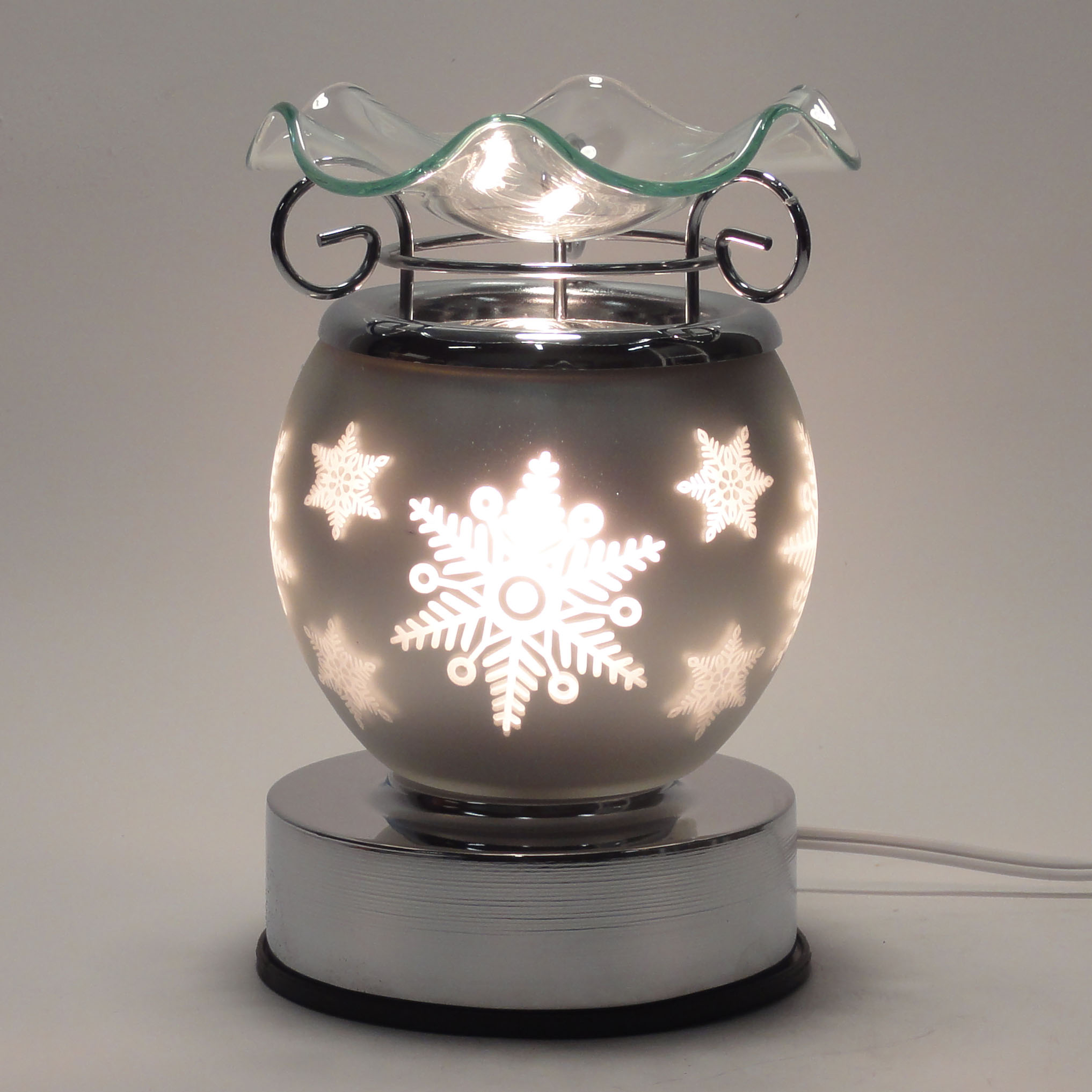 Aroma night lamps - Fragrance Oil Warmer Touch Sensitive Decorative Electric Glass Fragrance Lamp Burner Diffuser Night Light In Gift Box