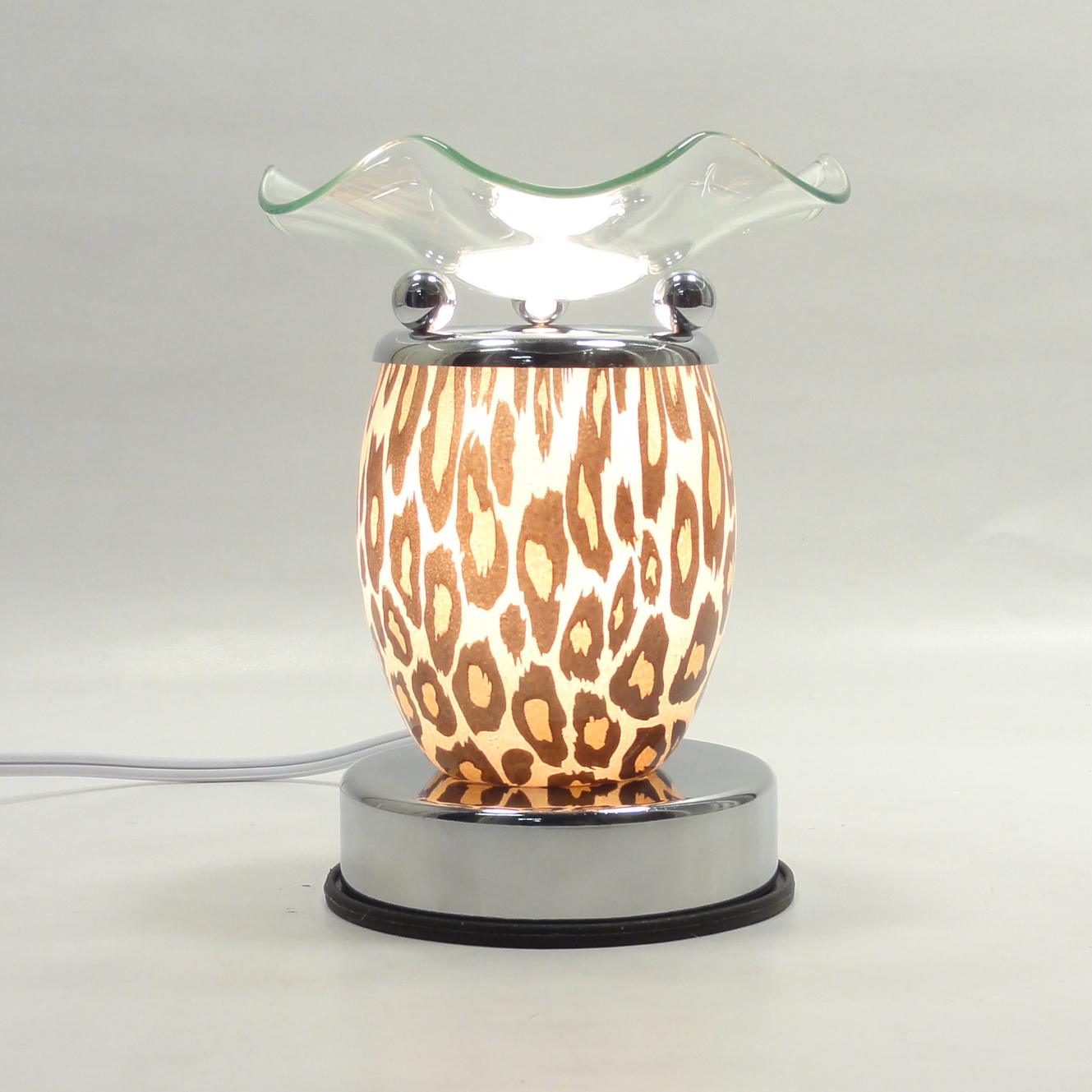 Animal Design Glass Electric Fragrance Touch Lamp Oil