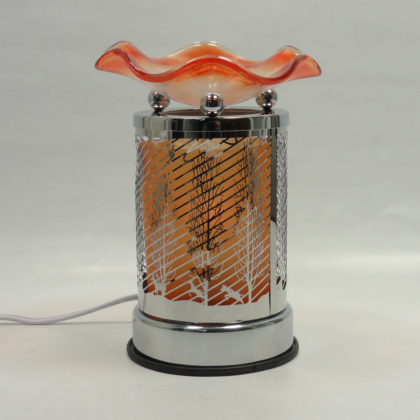 Electric Oil Warmers ~ Metal glass design touch electric fragrance lamp oil