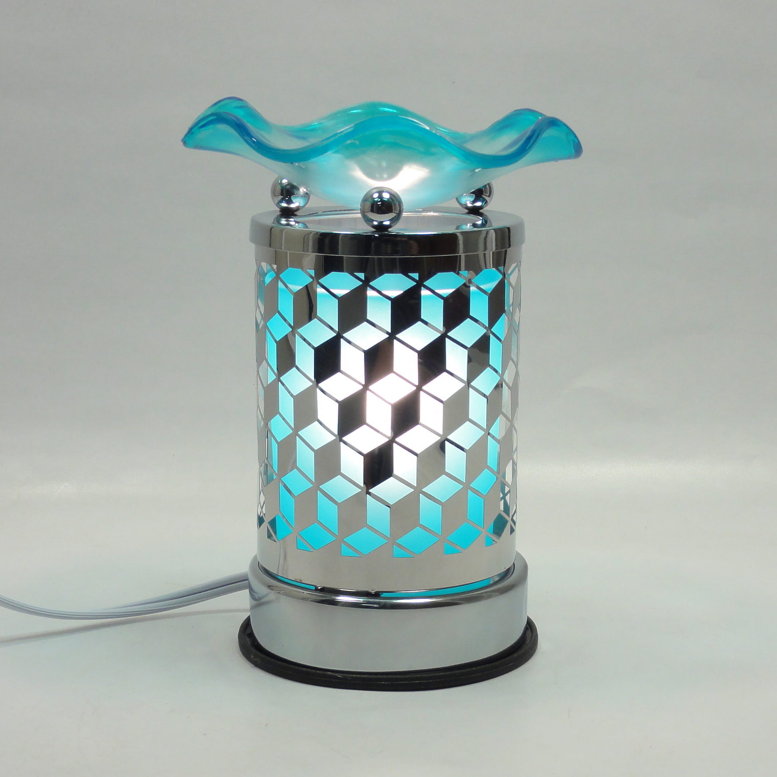 Metal Glass Design Touch Electric Fragrance Lamp Oil