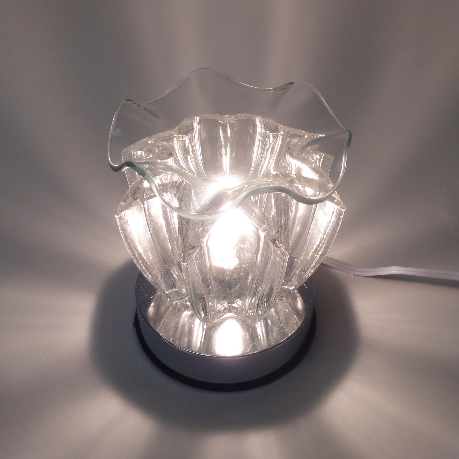 electric glass touch lamp essential oil diffuser oil burner tart. Black Bedroom Furniture Sets. Home Design Ideas