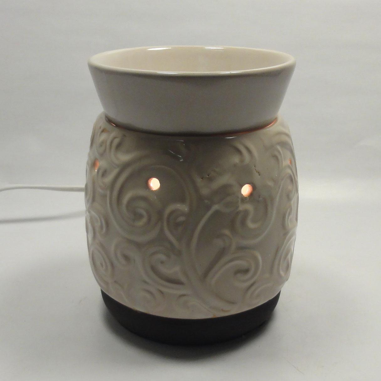 Ceramic Candle Warmer ~ Classic ceramic electric scent oil tart warmer diffuser