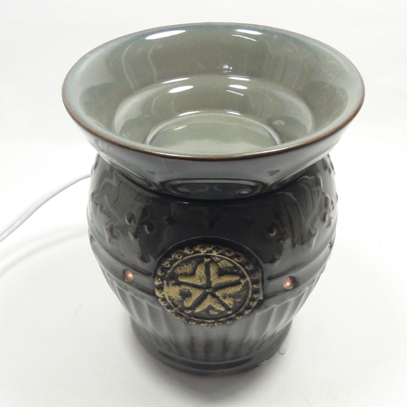 ceramic electric fragrance oil tart lamp warmer diffuser burner aroma. Black Bedroom Furniture Sets. Home Design Ideas