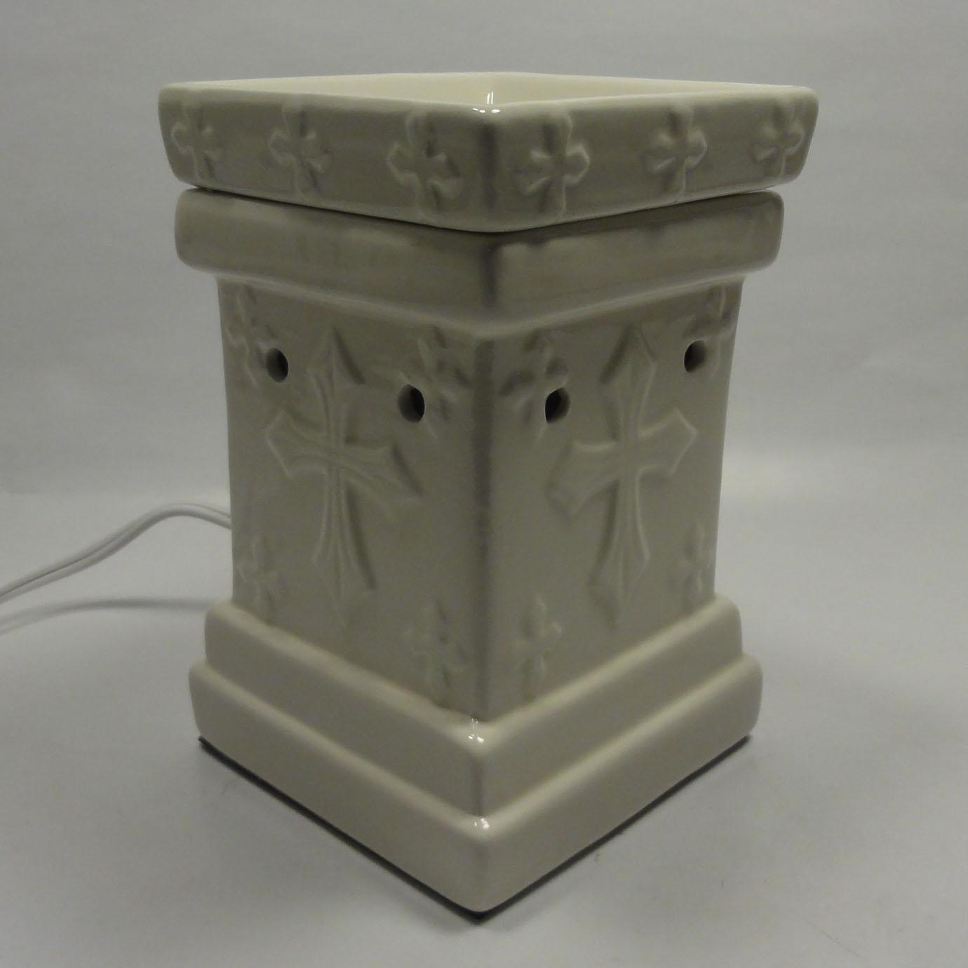 Classic Cross Ceramic Electric Scent Oil Tart Lamp Burner